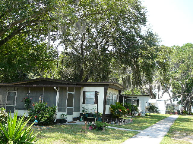 Shaded mobile home and RV sites